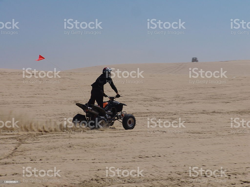 ATV Rider royalty-free stock photo