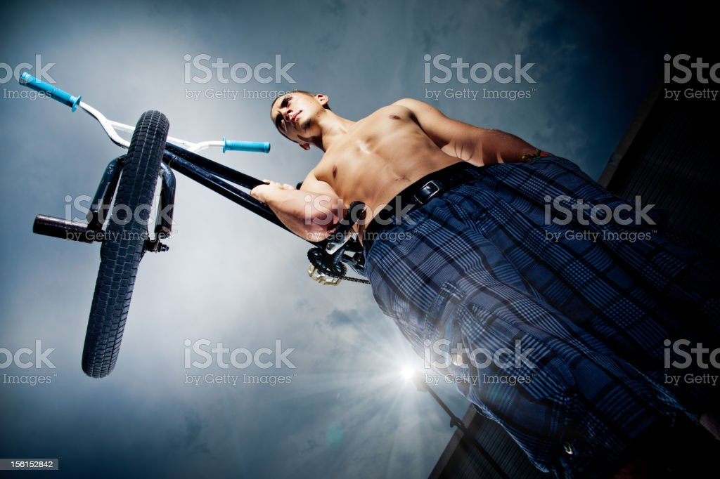 BMX rider royalty-free stock photo