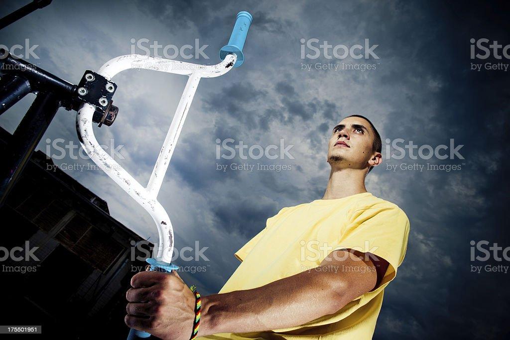 BMX rider royalty-free stock photo