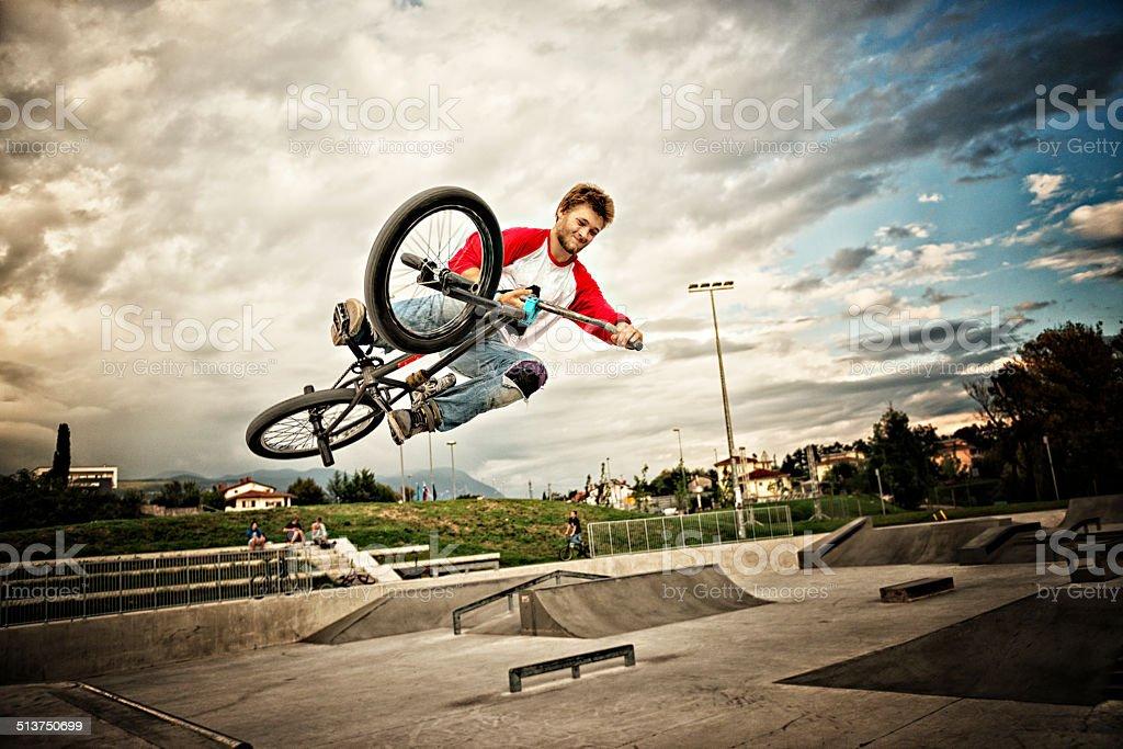 BMX rider stock photo