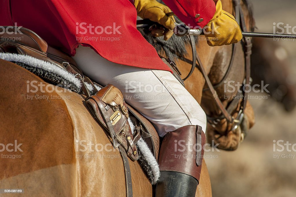 Rider with Whip stock photo