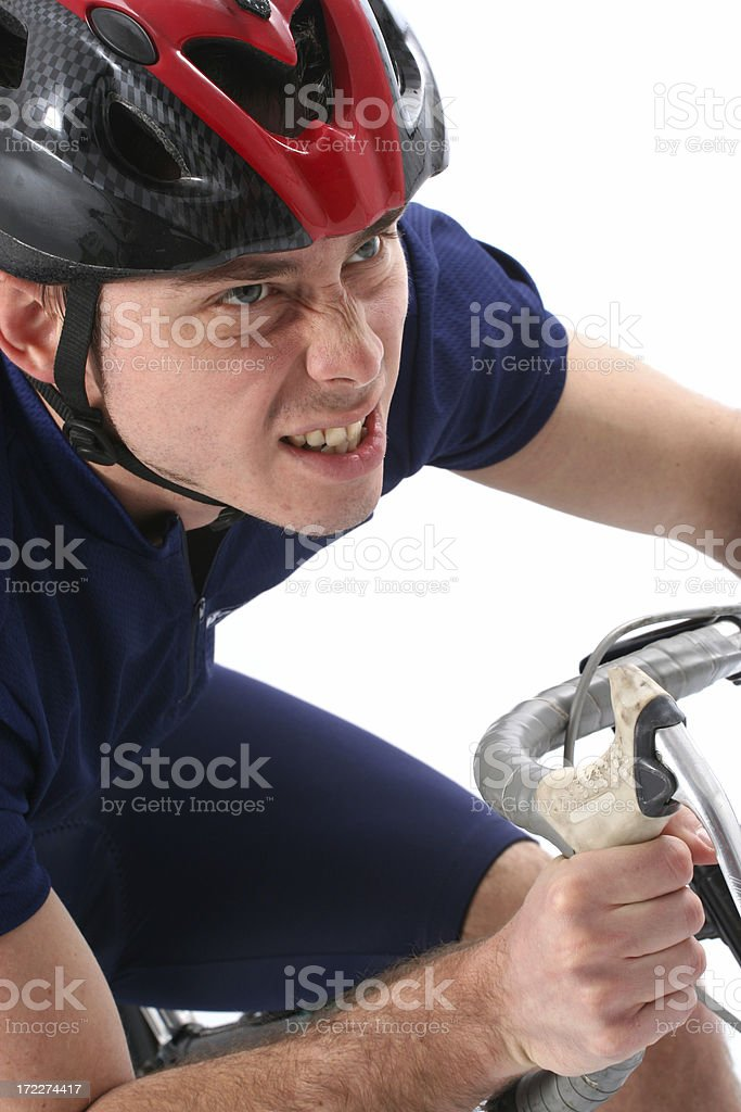 Rider's determination royalty-free stock photo