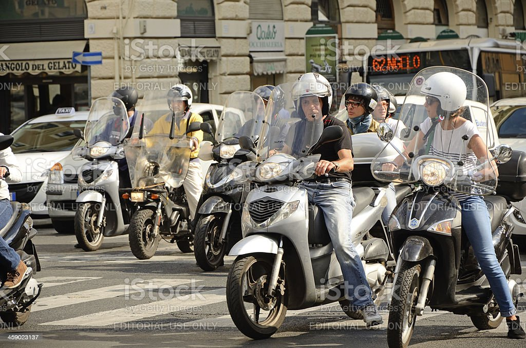 Riders in Rome royalty-free stock photo