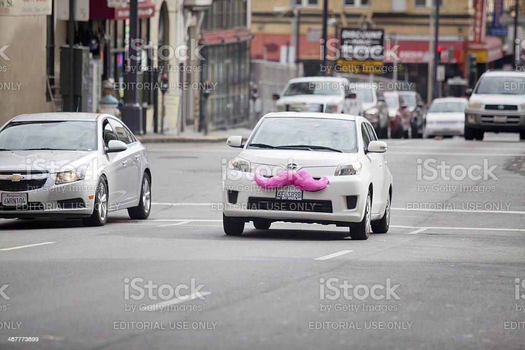 Ridesharing-Lyft Car in San Francisco stock photo