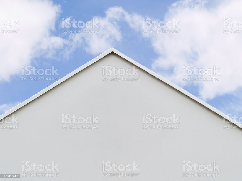 ridge of the roof royalty-free stock photo