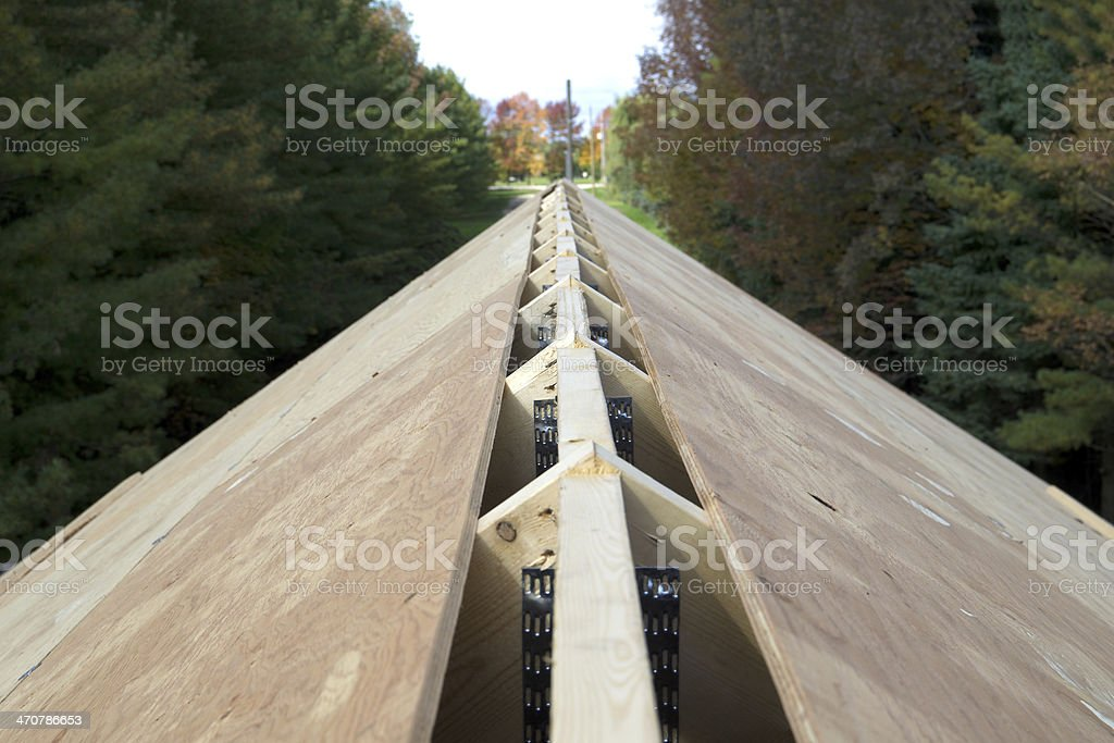 Ridge Vent Opening in Roof royalty-free stock photo