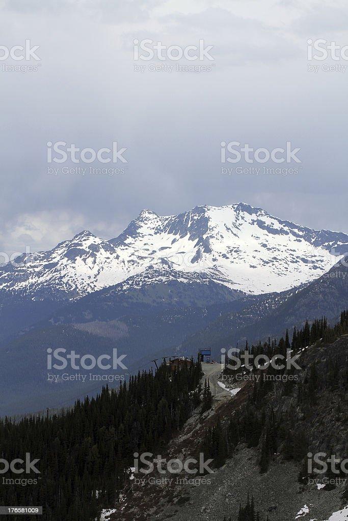 Ridgeline to Mountains royalty-free stock photo