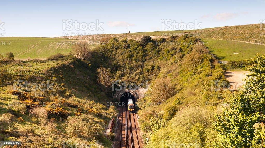 Ridgeway tunnel stock photo