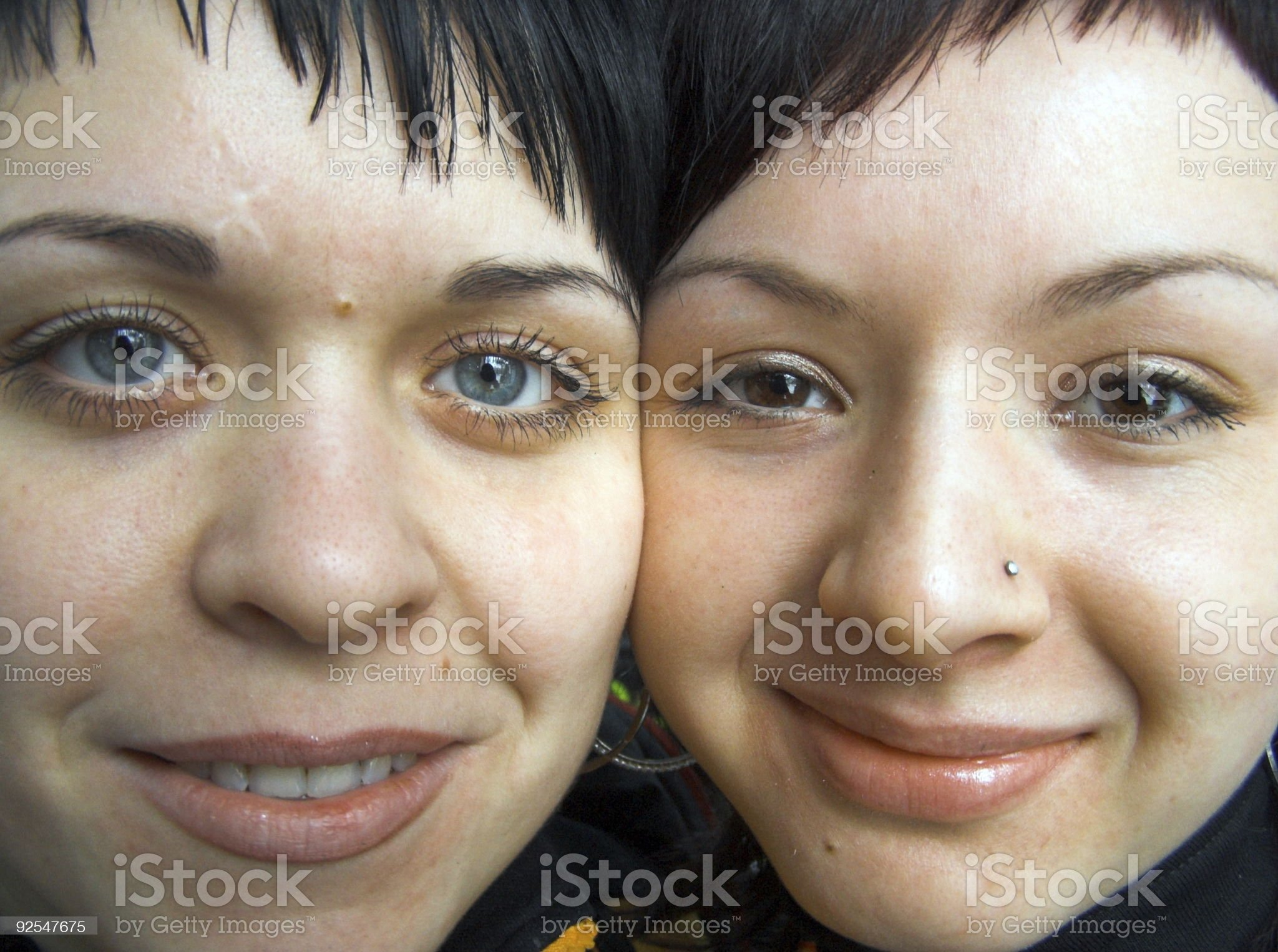 Ridiculous faces. royalty-free stock photo