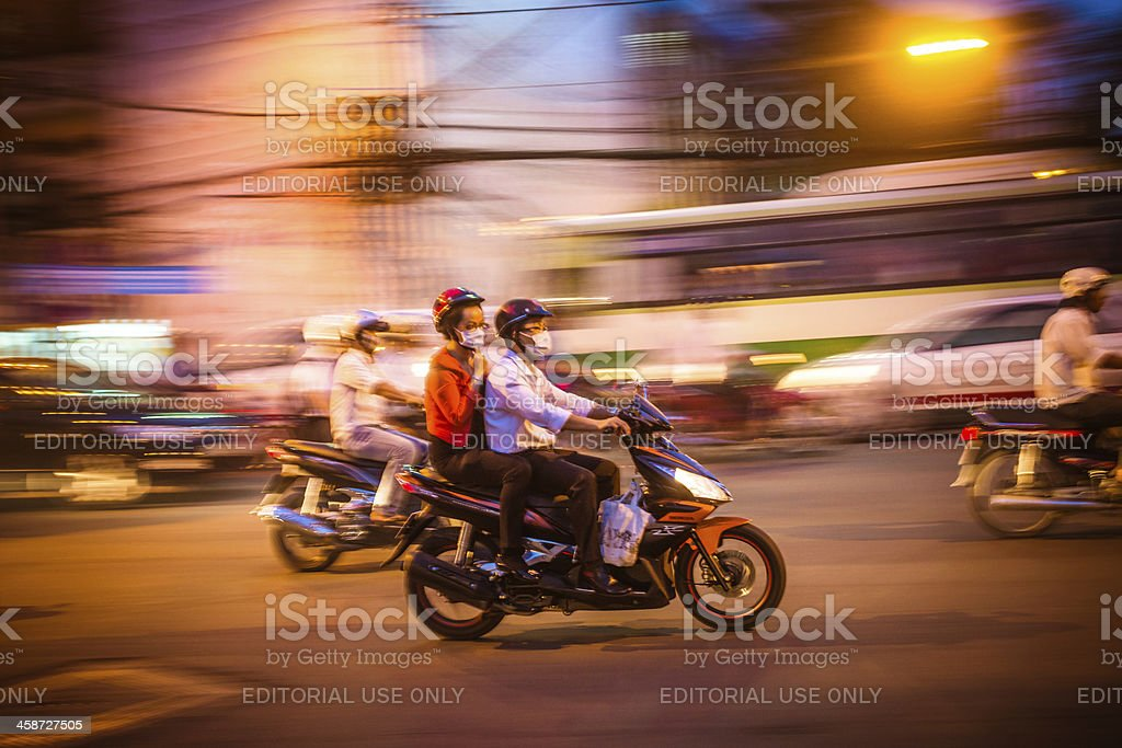 Riding A Motorcycle royalty-free stock photo