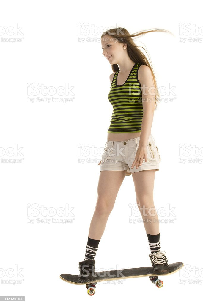 Riding a skateboard. royalty-free stock photo