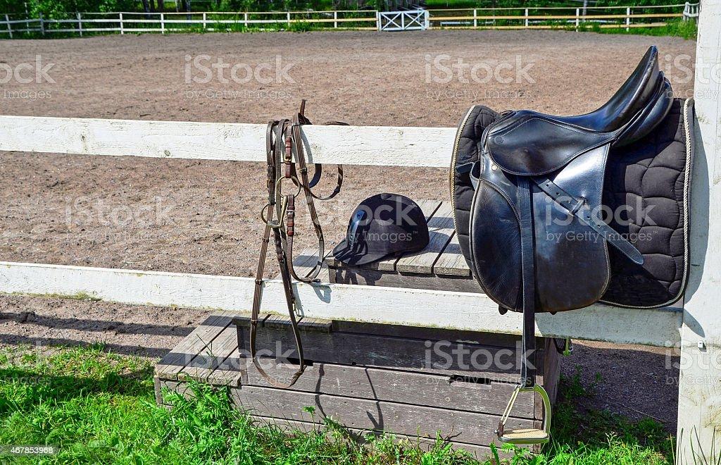 Riding equipments stock photo