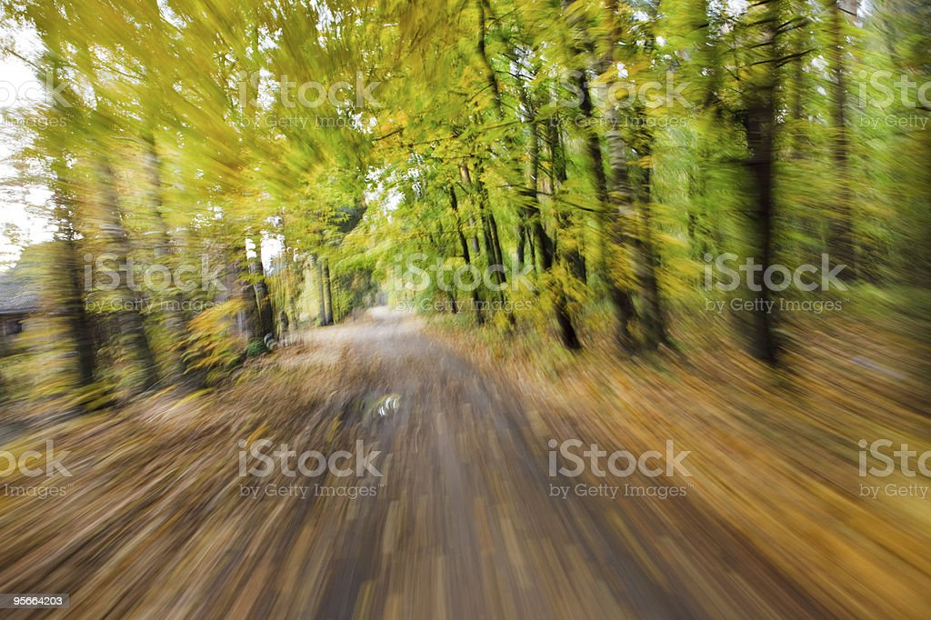 Riding fast. Abstract motion blur. royalty-free stock photo