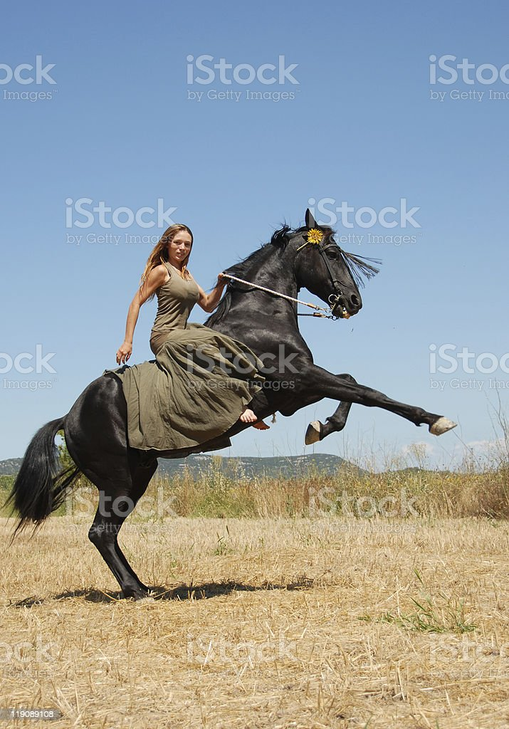 riding girl stock photo