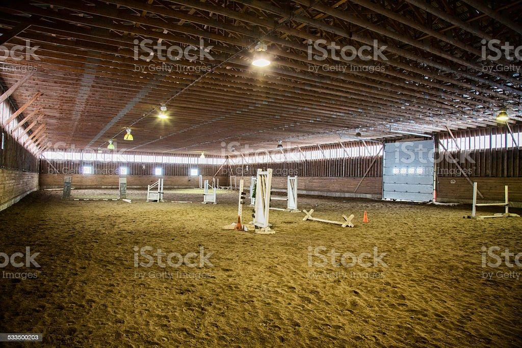 Riding Hall stock photo