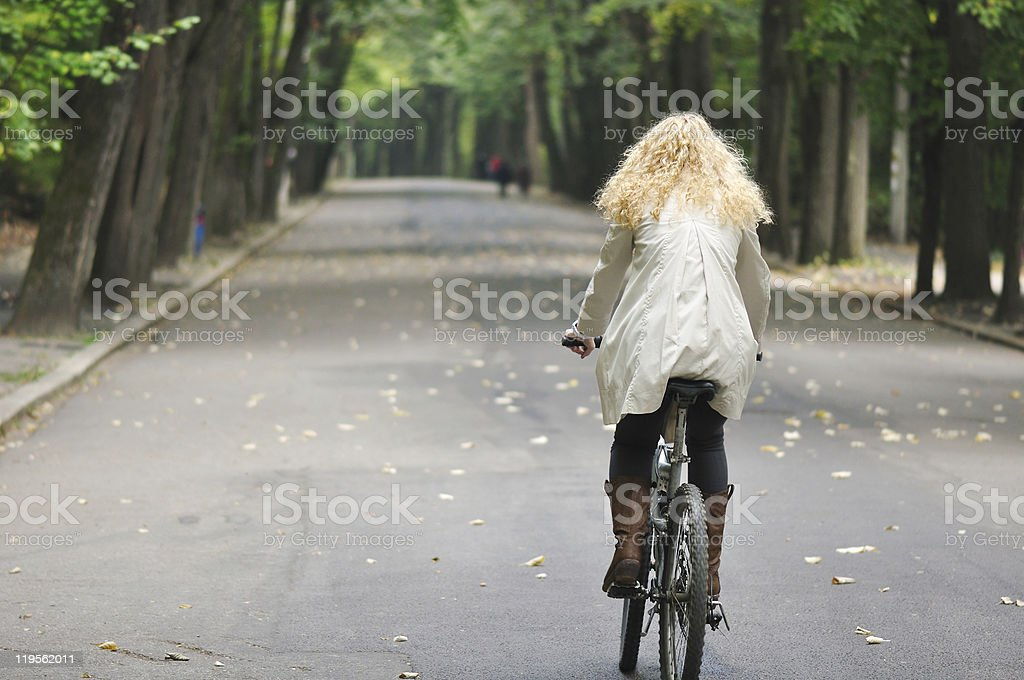 riding in park royalty-free stock photo