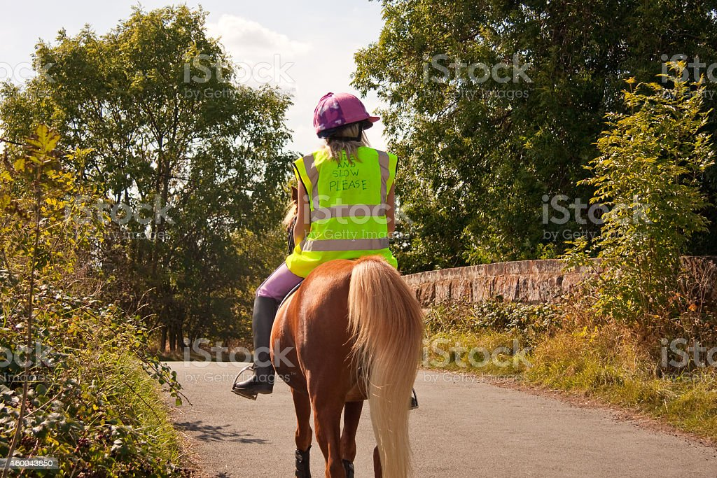Riding in the english countryside royalty-free stock photo
