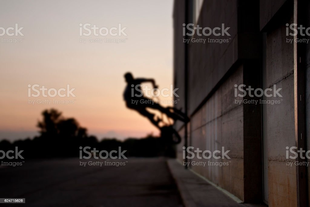 Riding in the sunset stock photo