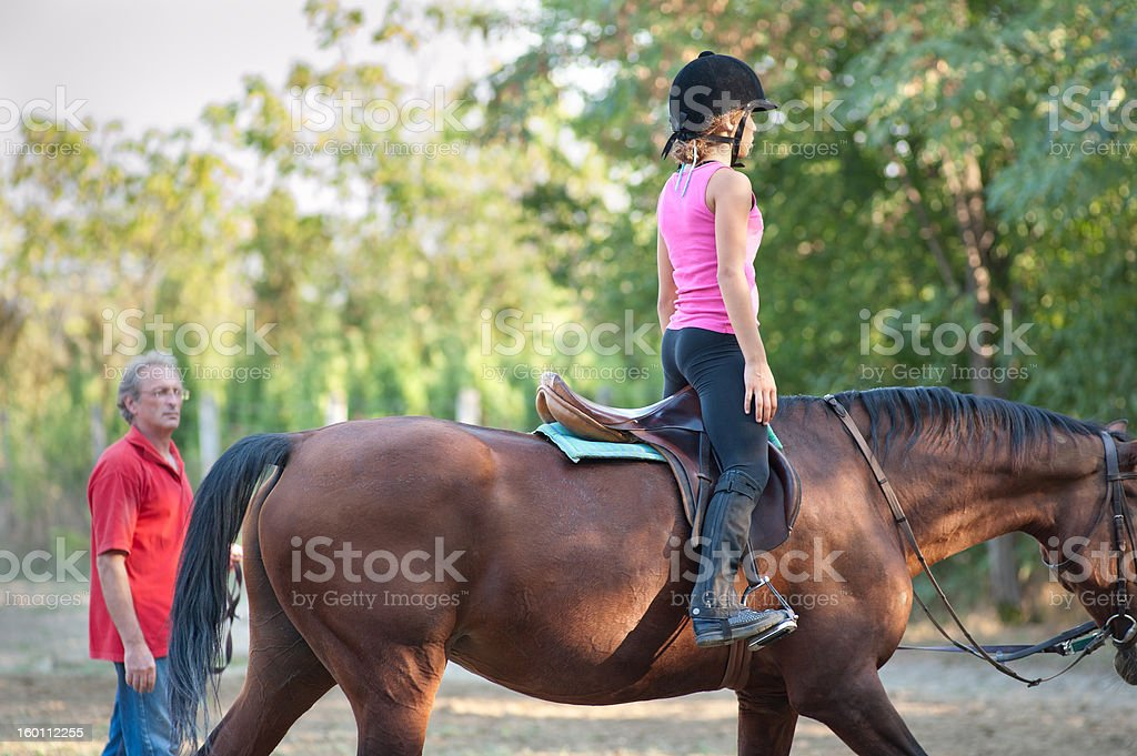 Riding Instructor stock photo