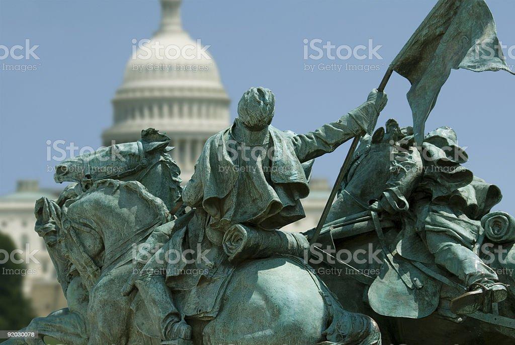 Riding into Washington stock photo