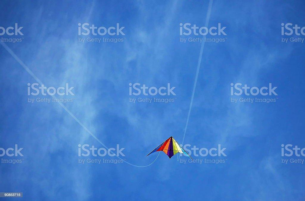 Riding Kite royalty-free stock photo