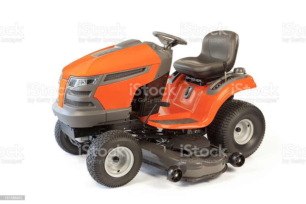 Riding Lawn Mower Isolated stock photo