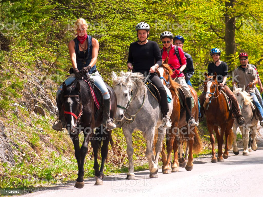 Riding on the road royalty-free stock photo