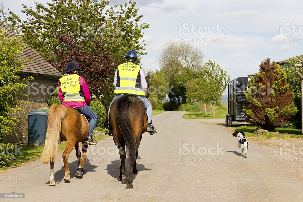 Riding out in the English countryside. royalty-free stock photo