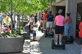 Riding Segways at the 2016 Denver Chalk Art Festival