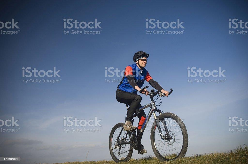 Riding the bike royalty-free stock photo