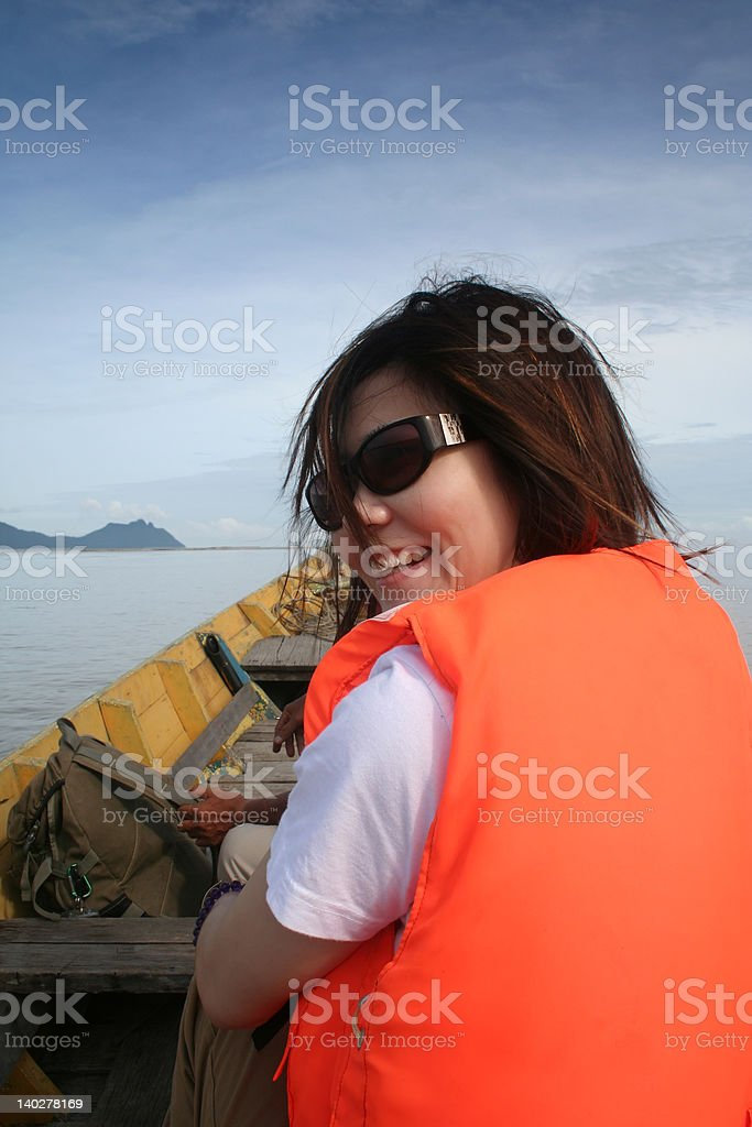 Riding The Boat royalty-free stock photo