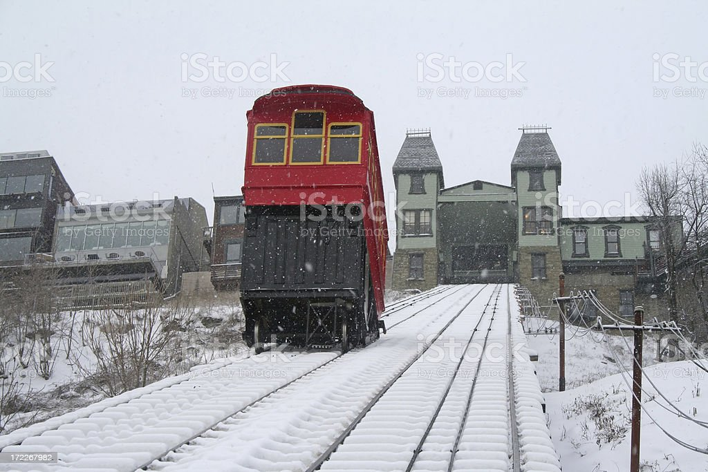 Riding the Duquesne Incline stock photo