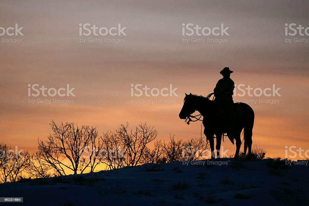 Riding The Range stock photo