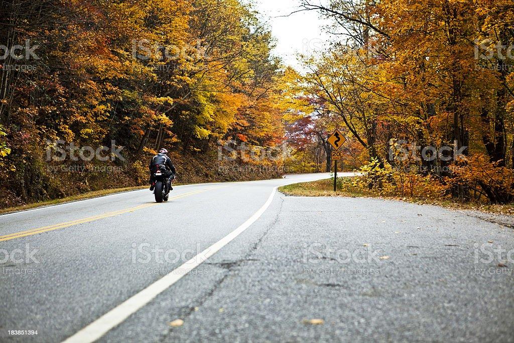 riding the twisties stock photo
