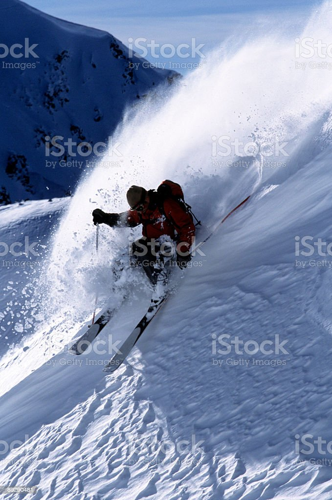Riding the Wave stock photo