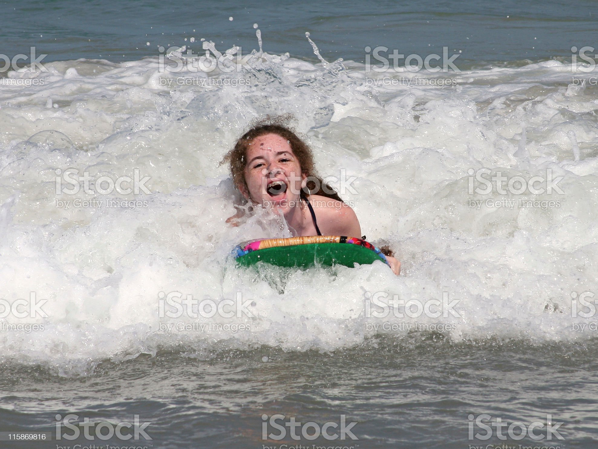 Riding the Waves royalty-free stock photo
