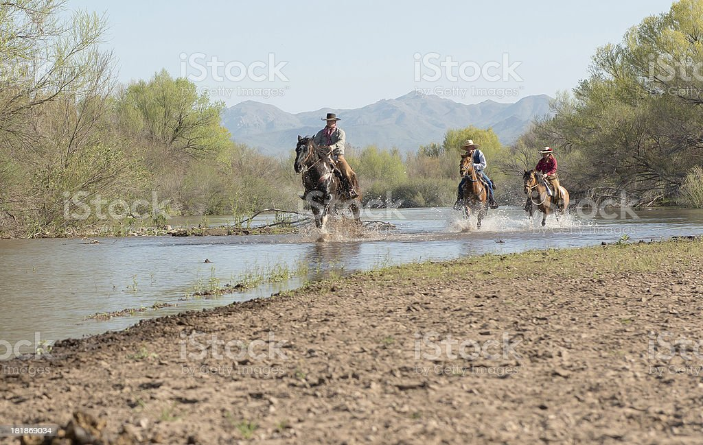 Riding up the river royalty-free stock photo