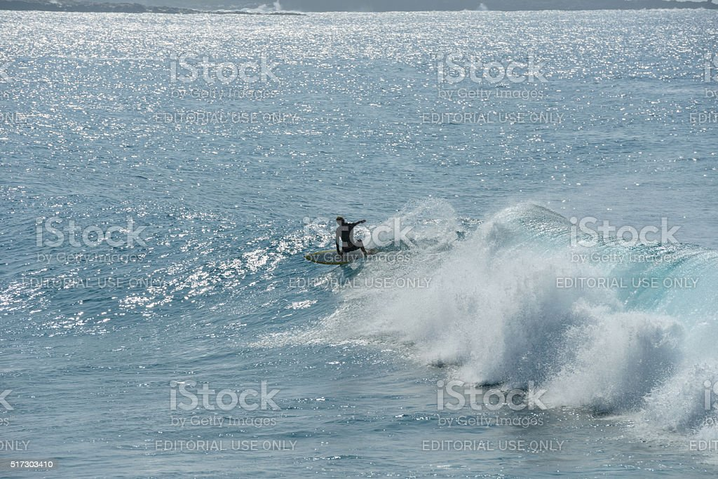 Riding Waves stock photo