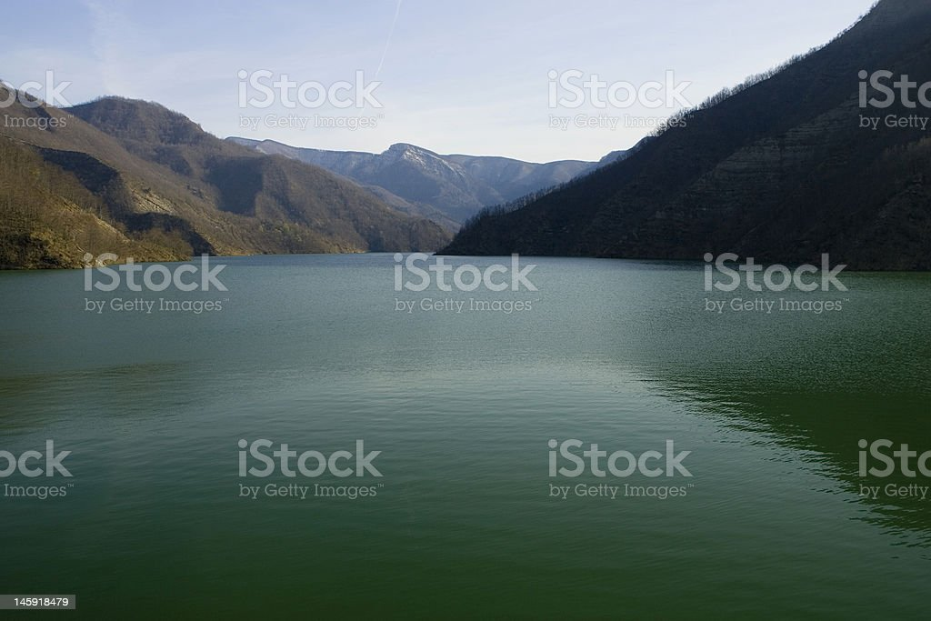 Ridracoli's lake stock photo