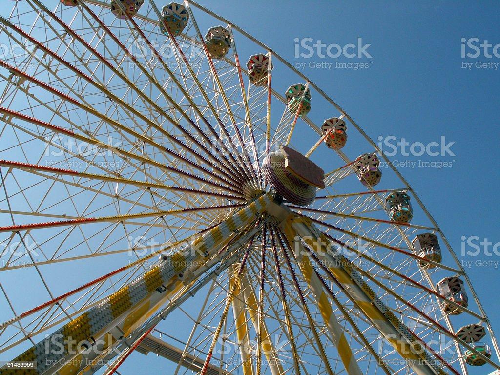 Riesenrad auf dem Zissel Fest in Kassel an der Fulda royalty-free stock photo