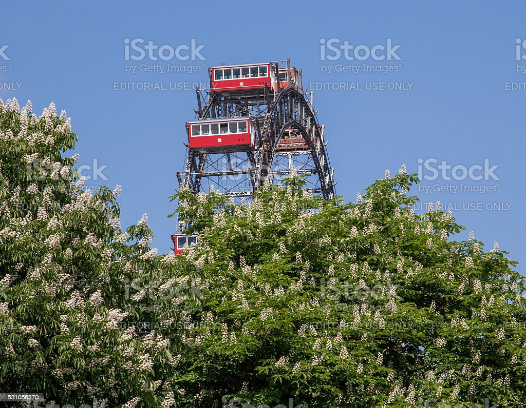Riesenrad in the Spring stock photo