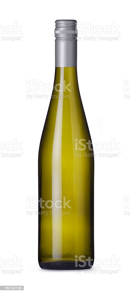 Riesling Wine Bottle royalty-free stock photo