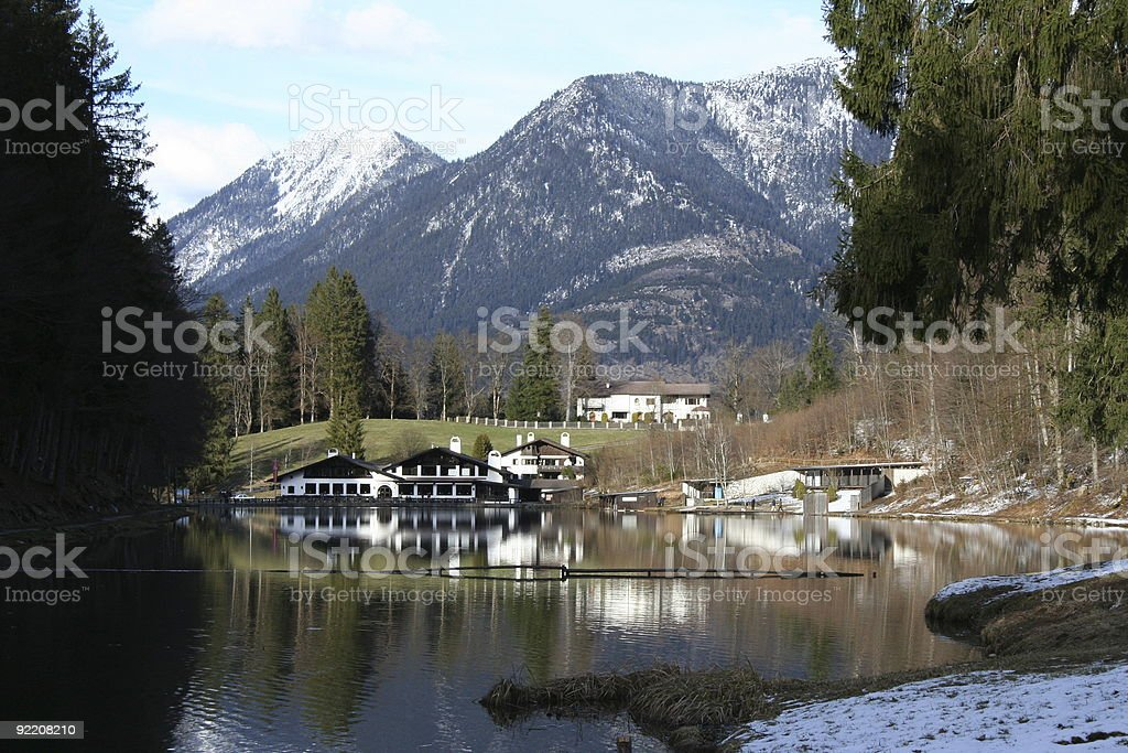Riessersee stock photo