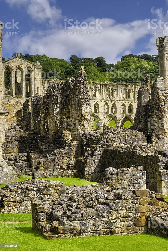Rievaulx Abbey stock photo