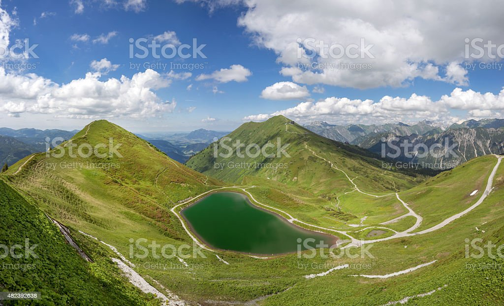 Riezler Alpsee above the Kleinwalsertal stock photo
