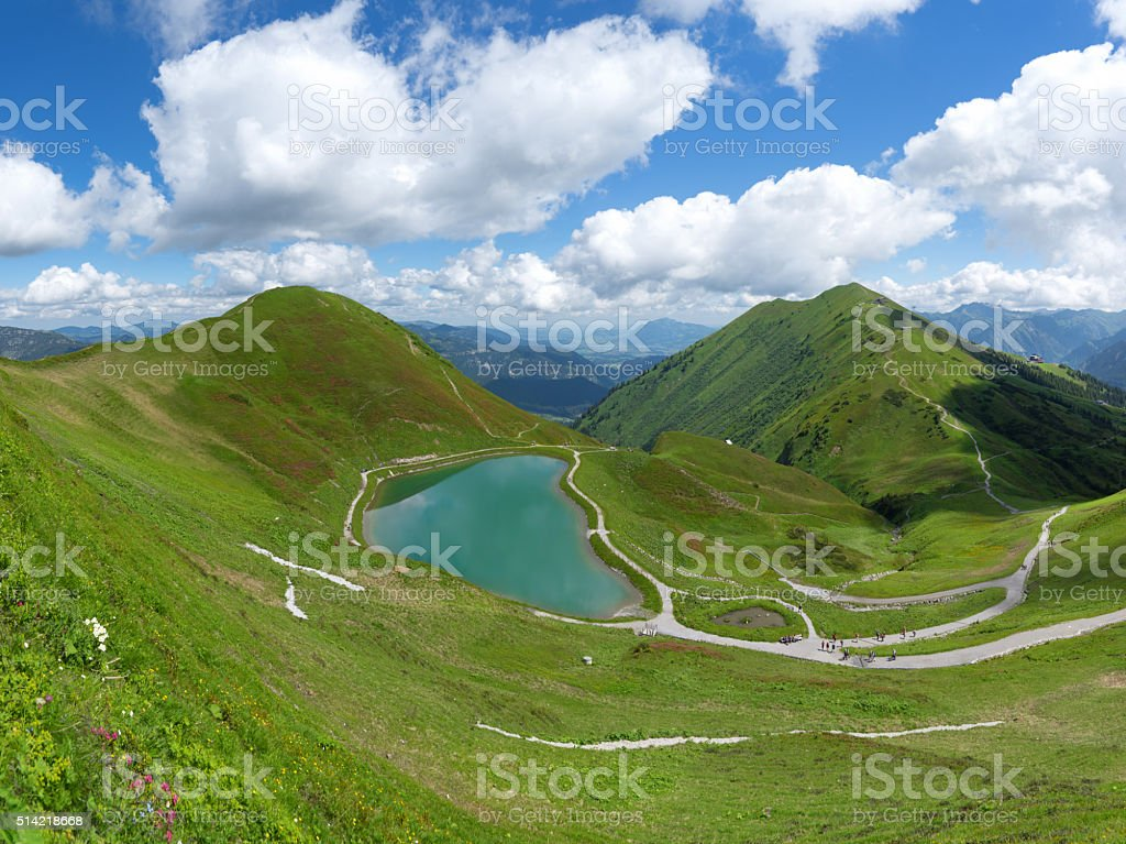 Riezler Alpsee in the Allgau Alps stock photo