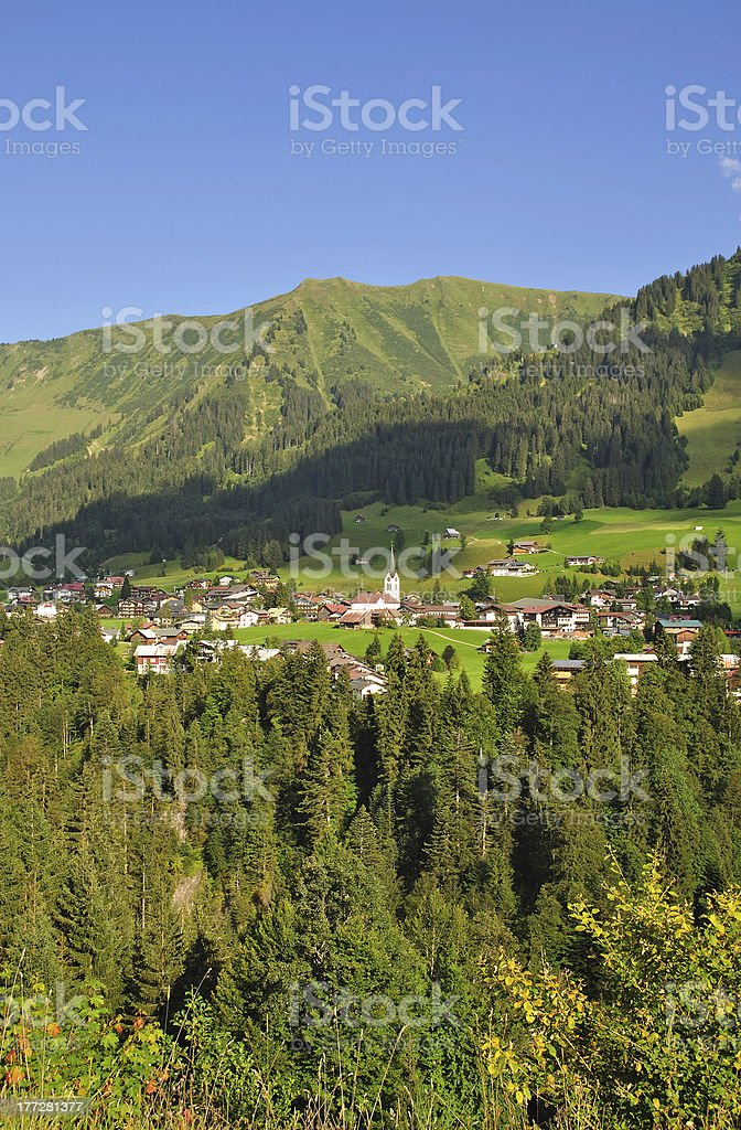 Riezlern,Kleinwalsertal,Austria stock photo