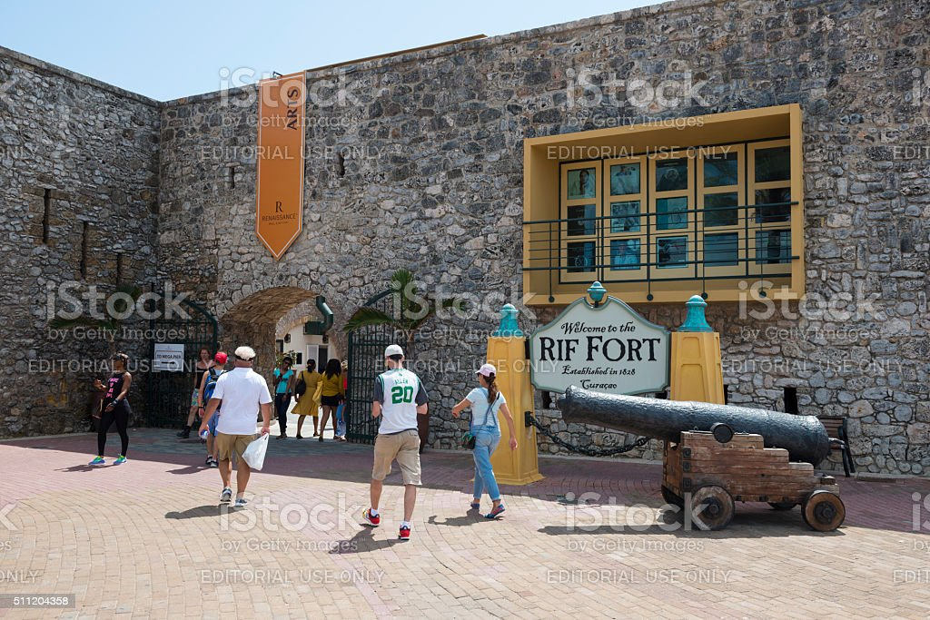 Rif Fort in Willemstad, Curacao stock photo