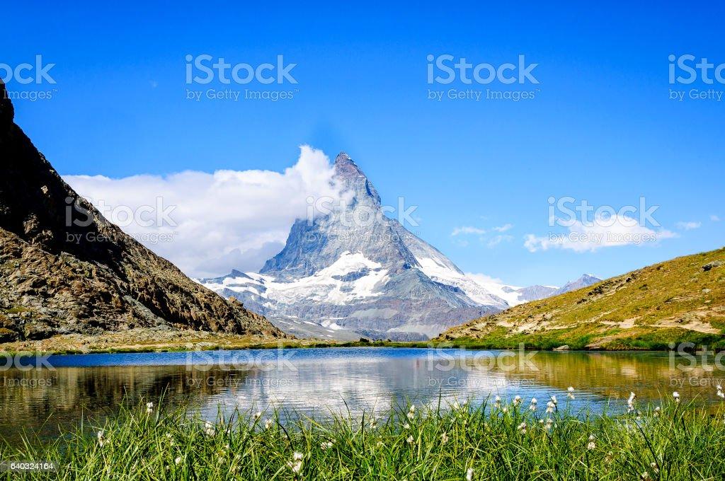 Riffelsee,Zermatt, Switzerland stock photo