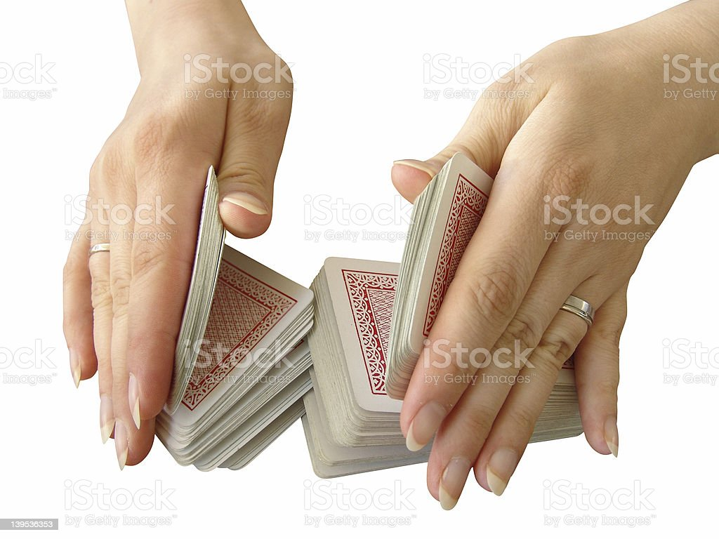 riffle the cards royalty-free stock photo